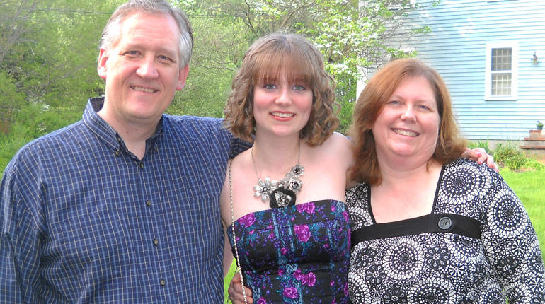 Bob, Lizzi and Melissa Marriott