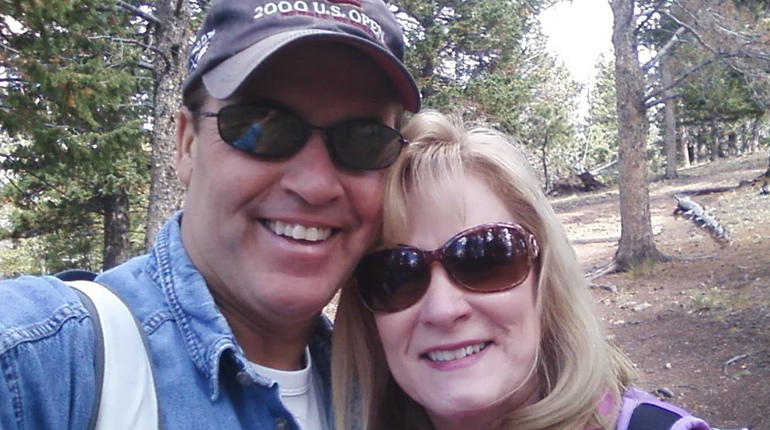 Harold and Toni Henthorn on their anniversary hike