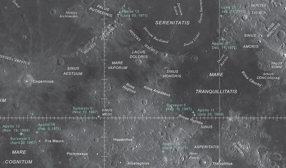 map of moon landings - photo #35
