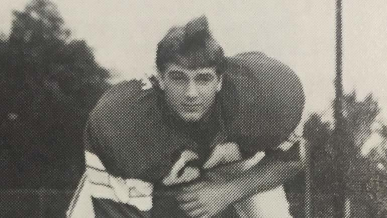 Curtis Lovelace as a football star at Quincy High School