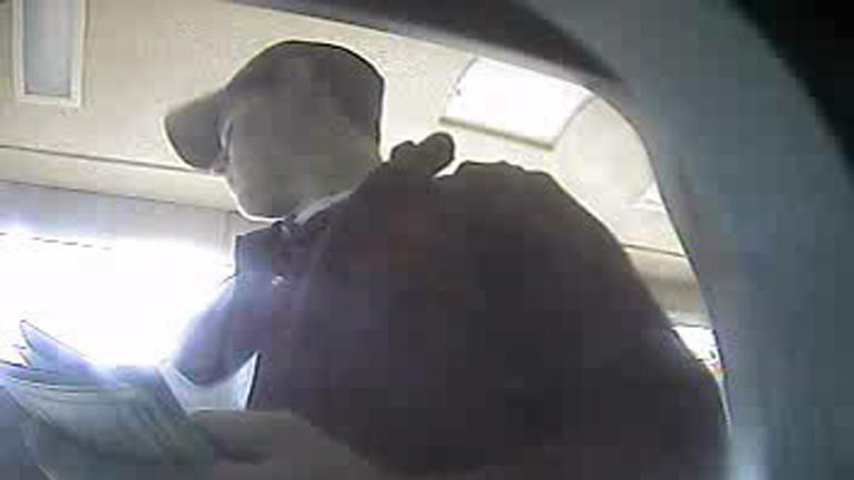 Wesley Freilich as seen in bank surveillance video