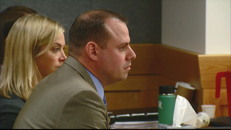 Tom Fallis in court during his trial