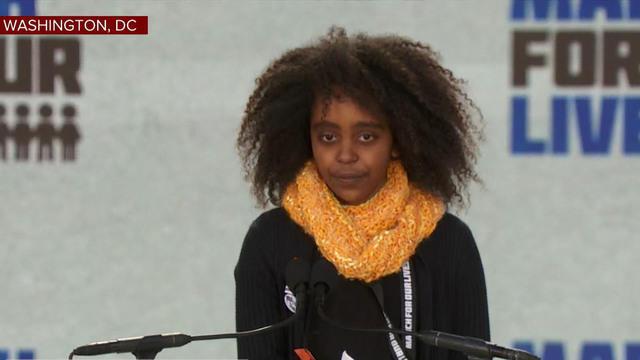 Naomi Wadler, Young Alexandria Girl, Inspires Crowd At D.C. Rally
