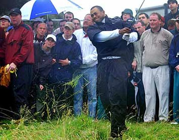 can tiger carry the day  - 2002 british open