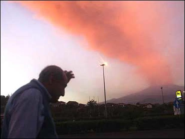 Eruption of Mount Etna