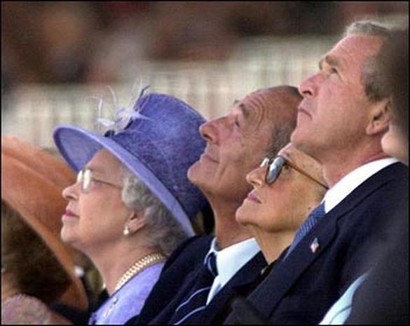 Bush in Normandy