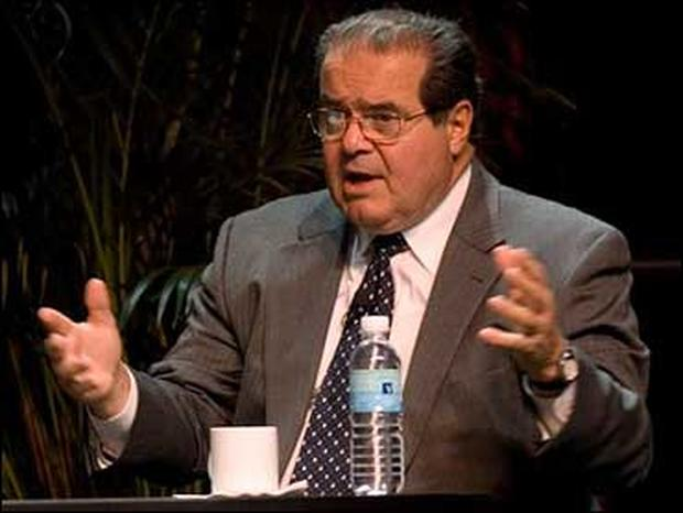 .S. Supreme Court Associate Justice Antonin Scalia speaks during debate at ACLU, Oct. 15, 2006 in Washington.