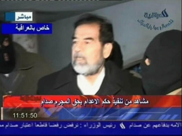 With you amateur video shows the final moments of saddam hussein join. And