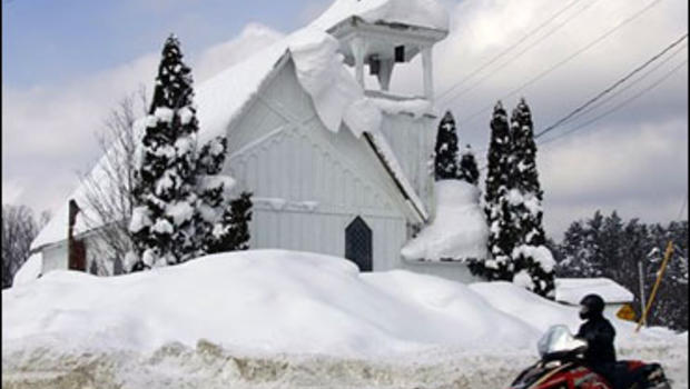 snow records fall as n y  towns dig out