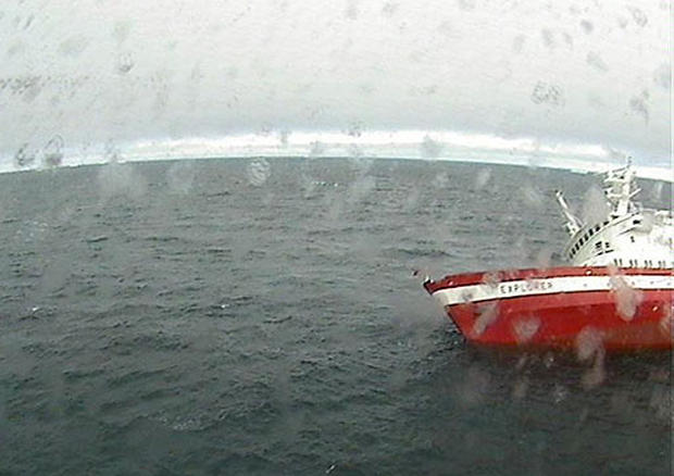 Cruise Ship Strikes Ice