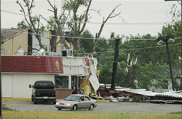 Kansas Town Clobbered