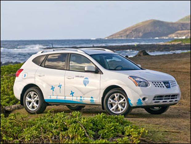 The Better Place Rogue is an all-electric version of the Nissan Rogue crossover SUV.