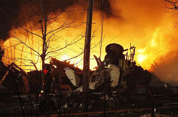 Fiery Crash Near Buffalo