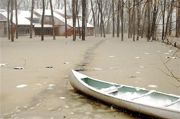 Ice Jam Causes Flooding