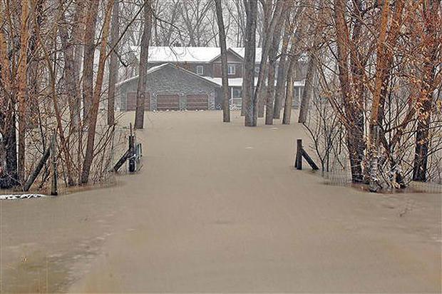 Ice Jam Causes Flooding