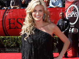 Erin Andrews arrives at the ESPY Awards on Wednesday July 15, 2009, in Los Angeles. (AP Photo/Matt Sayles)