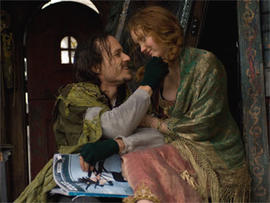 "Heath Ledger and Lily Cole in ""The Imaginarium of Doctor Parnassus."""