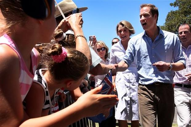 Prince William Visits Australia
