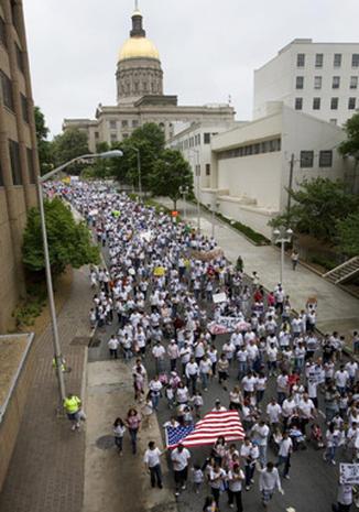Rallies Against Arizona Law