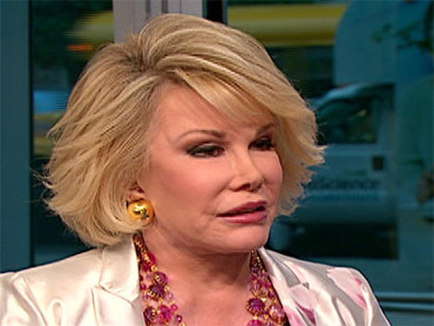 Joan Rivers on The Early Show.