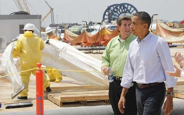Obama Visits the Gulf Coast