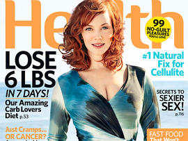 Christina Hendricks on July cover of Health magazine. (Health)