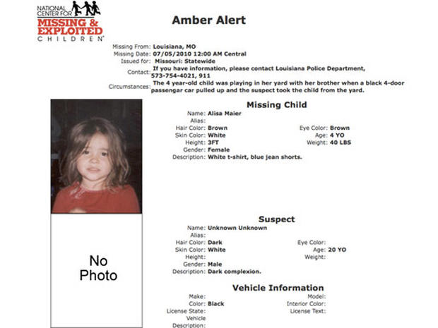 Alisa Maier Kidnapped