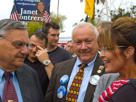 "Sarah Palin Gets Pink Underwear from Ariz. Sheriff Joe ""Let Them Wear Pink"" Arpaio"