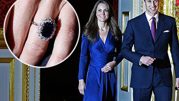 kate middletons engagement ring is princess dianas cbs news - Princess Kate Wedding Ring
