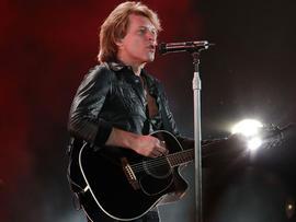 Jon Bon Jovi performs on stage at Etihad Stadium on Dec. 11, 2010, in Melbourne, Australia.