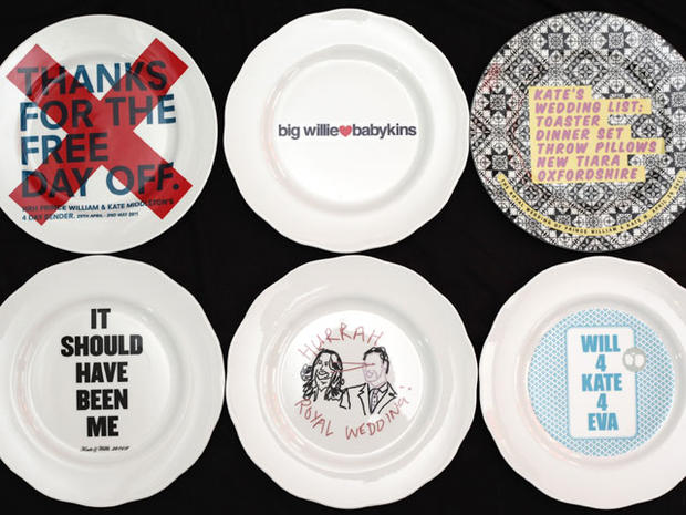 Unofficial royal wedding plates