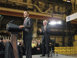 Jeffrey Immelt and Barack Obama