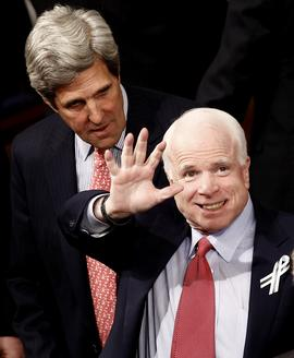 John McCain and John Kerry