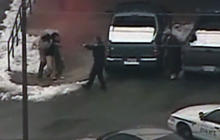 Robbery Suspect Takes Hostage, Slips on Ice