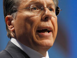 National Rifle Association Executive Vice President and CEO Wayne LaPierre addresses the Conservative Political Action Conference