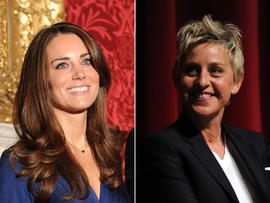 Kate Middleton and Ellen DeGeneres