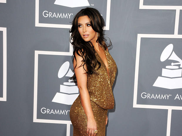 Kim Kardashian at the 2011 Grammy Awards.