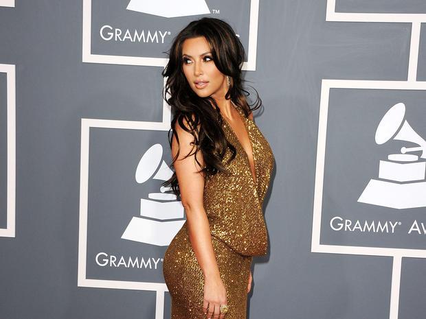 Kim Kardashian at the 2011 Grammy Awards.