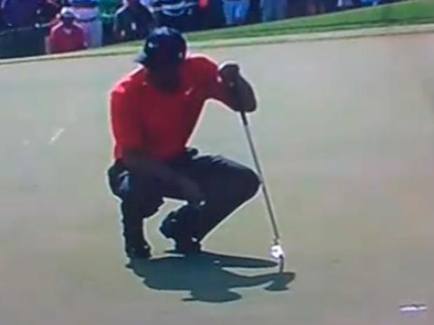 Tiger Woods Spit Dubai 2011, Tiger Woods