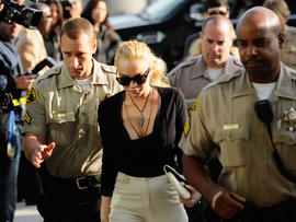 Lindsay Lohan begins house arrest for necklace theft