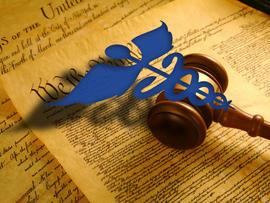 Caduseus over United States Constitution