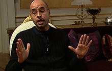 Qaddafi's son confident gov't will crush rebels