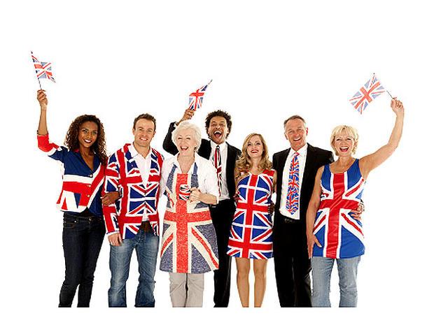 British, England, flag, union jack, stock, 4x3