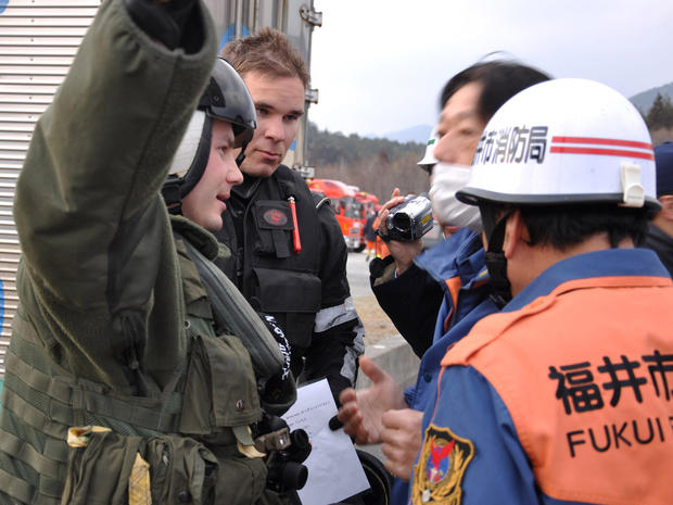 U.S. relief crews in Japan