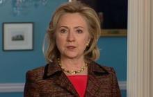 "Clinton - ""not impressed"" by Qaddafi's words"