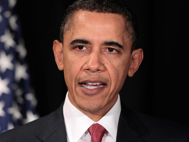 U.S. President Barack Obama makes a statement about limited military action against Libya