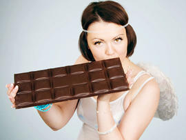 chocolate, angel, woman, pretty, wings, diet, food, heaven, sweets, desert, stock, 4x3