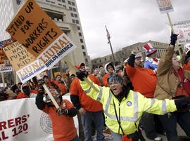 Indiana, protests, union