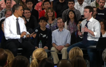 """Zuckerberg tells Obama he's """"cool"""" with paying higher taxes"""