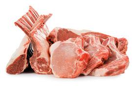 rib eye beef steaks and rack of lambs